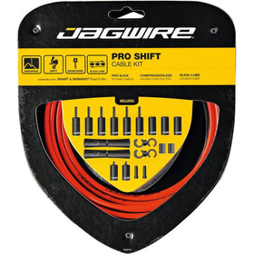 Jagwire 2X Pro Shift Set de câble de dérailleur, red